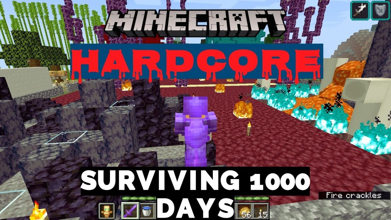 Minecraft Hard Core Surviving For 1000 days Live