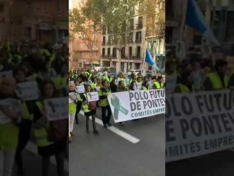 La caravana de Ence recorre Madrid