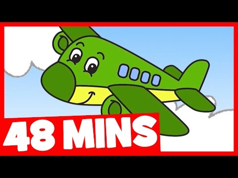 Let's Be Planes Song And More   48mins Songs Collection For Kids