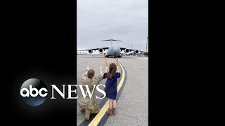 8-year-old girl marshals in her father's final military flight | WNT