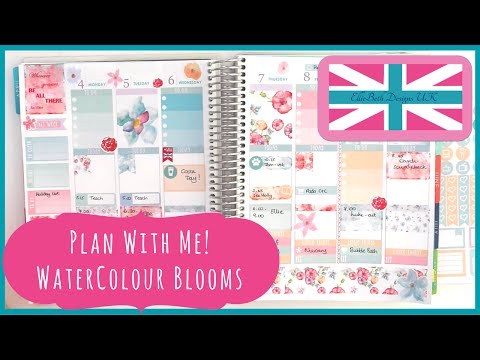Plan With Me (Stickerate!): Watercolour Blooms