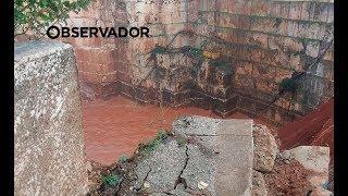 Vídeo mostra local onde a estrada em Vila Viçosa abateu a 50 metros de altura