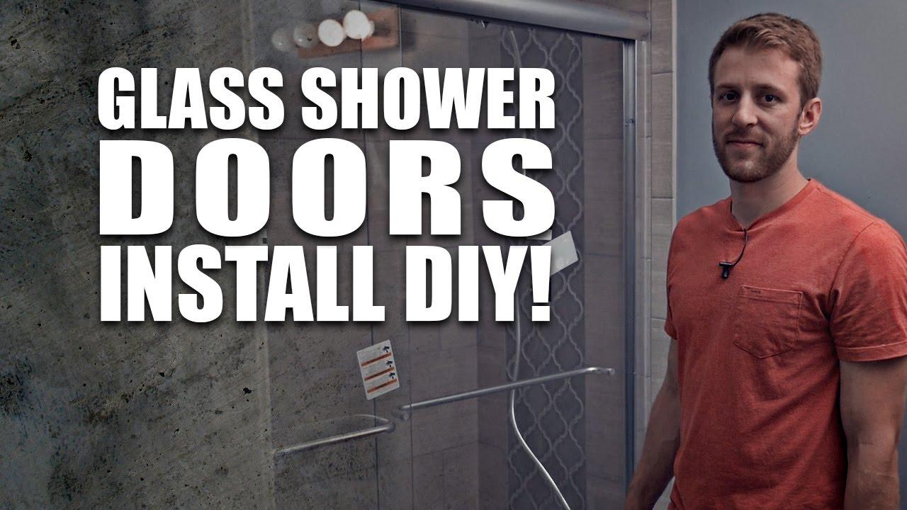 sliding glass shower doors install diy dorkz season 01 ep 06