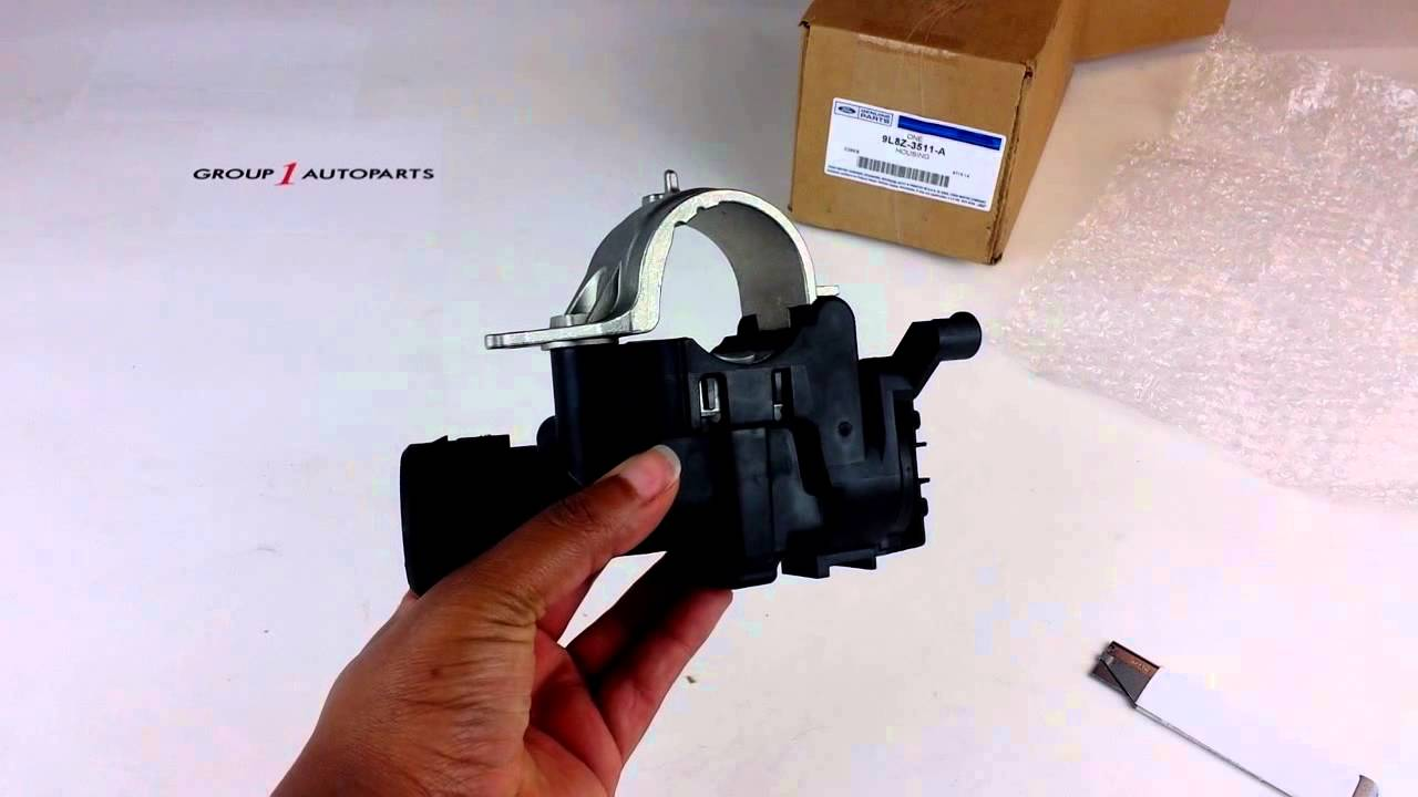 Ignition Switch Replacement >> Ford Steering Column Flange Housing 9L8Z-3511-A - YouTube
