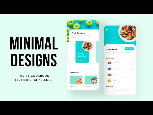 FlutterUI - Minimal Designs - Fruit Salad - Speed Code