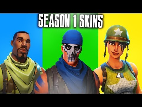 ALL SEASON 1 SKINS In FORTNITE! SEASON 1 SKINS SHOWCASE - Fortnite Battle Royale
