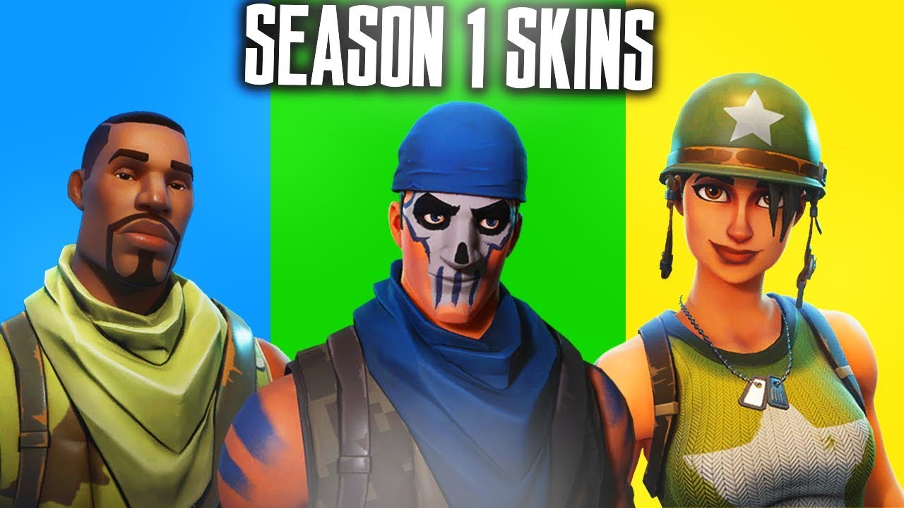 ALL SEASON 1 SKINS in FORTNITE! SEASON 1 SKINS SHOWCASE ...