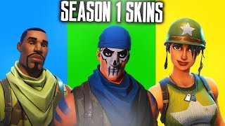 ALLE SEASON 1 SKINS in FORTNITE! SAISON 1 SKINS SHOWCASE - Fortnite Battle Royale