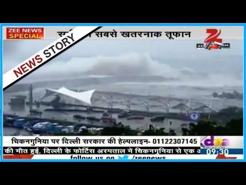 Typhoon Meranti batters Taiwan, barrels into mainland China