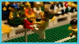 David Luiz free kick & Neymar injured | Brazil vs Colombia World Cup 2014 | Brick-by-brick