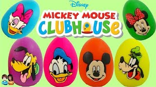 disney mickey mouse clubhouse friends minnie goofy daisy donald pluto play doh surprise eggs