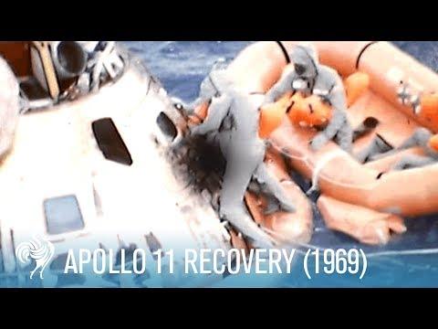 NASA Apollo 11 Recovery (1969) | British Pathé