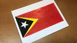 Timorese Flag Drawing 🇹🇱 (East Timor/Timor Leste)
