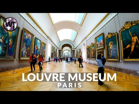 Inside Louvre Museum Paris, Mona Lisa - (Part 1) 🇫🇷 France - 4K Virtual Tour
