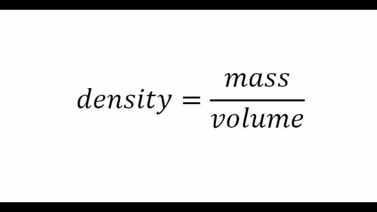 Science: How To Use Gress Method To Calculate Density, Mass, Volume
