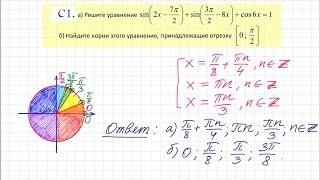 Задача 13. Урок 3. ЕГЭ 2016 по математике