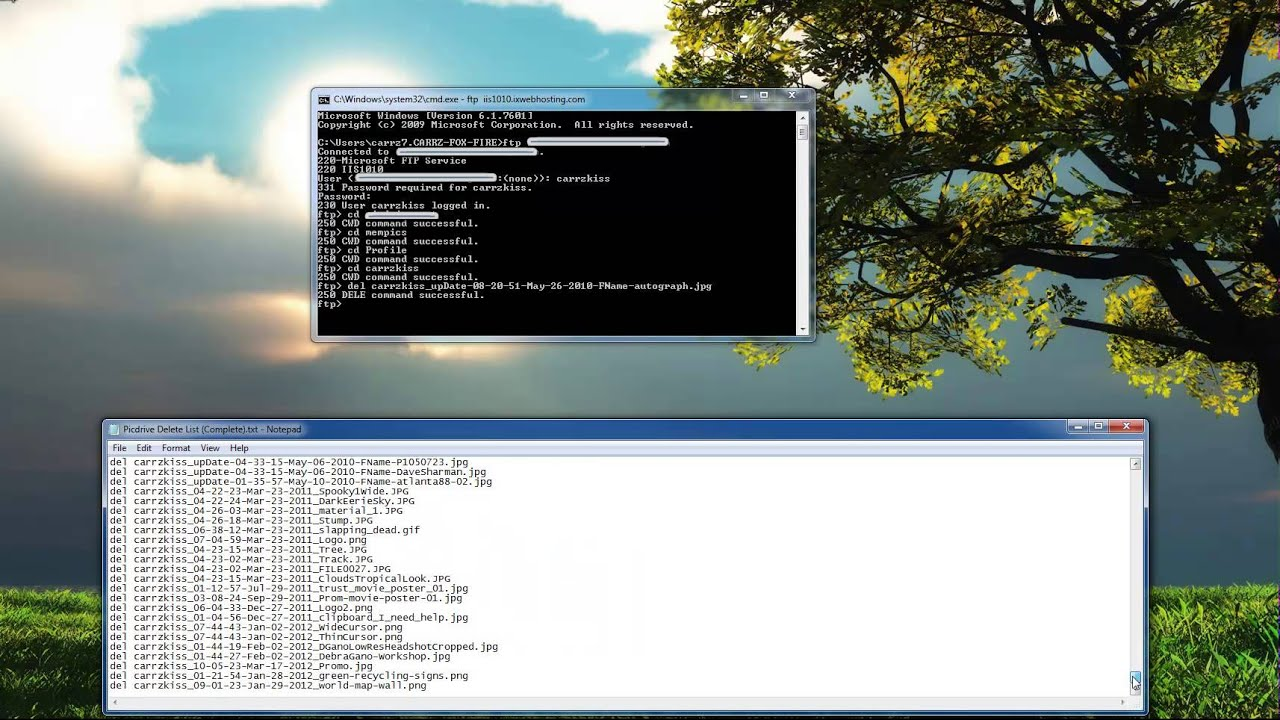 Dos Prompt FTP and Command Prompt FTP