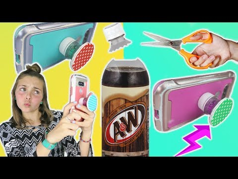 Best Easy Pop Bottle DIY POPSOCKET Crafts | Phone DIY W/ Ava | Kids Cooking And Crafts