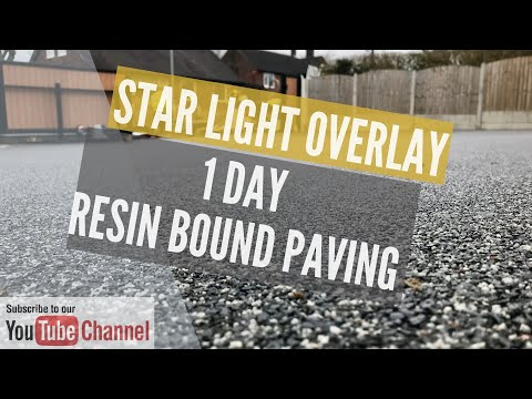 Resin driveway Install - time-lapse and close up - Resin Install