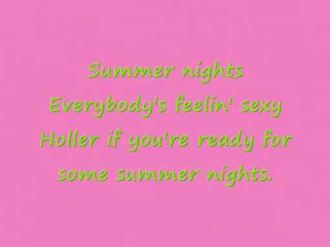Summer Nights- Rascal Flatts Lyrics
