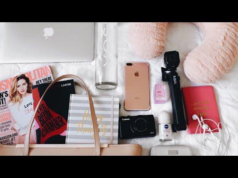 WHAT'S IN MY TRAVEL BAG/CARRY ON! TRAVEL ESSENTIALS! | JasmineElizabeth