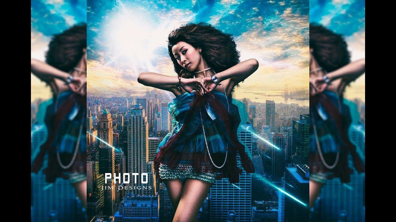Photoshop CC | Tutorial | La Chica Alta De La Ciudad | Manipulación