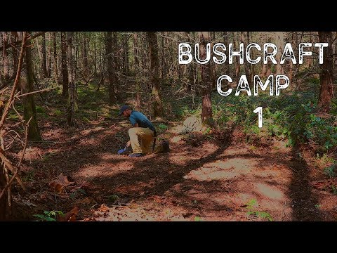 Bushcraft Camp 1: Clearing a Site & New Axe, Saw, Shovel