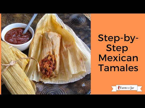 Step by step Mexican Pork Tamales with red chile sauce