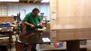 How To Buff A High Gloss Finish Like Kindel Furniture On A  Large Walnut Table