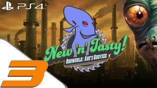 Oddworld New n Tasty - Walkthrough Part 3 - Monsaic Lines & Paramonia