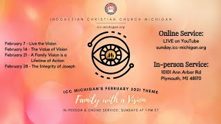 ICC Michigan Sunday Service, Feb 7th th 2021 at 1pm EST