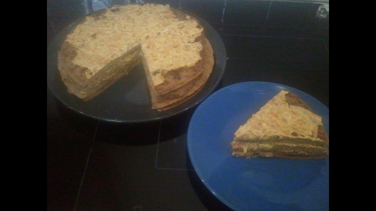 Приготовление печёночного торта своими руками