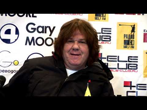 Gary Moore. Press-Conference, Yekaterinburg, Russia, 2010