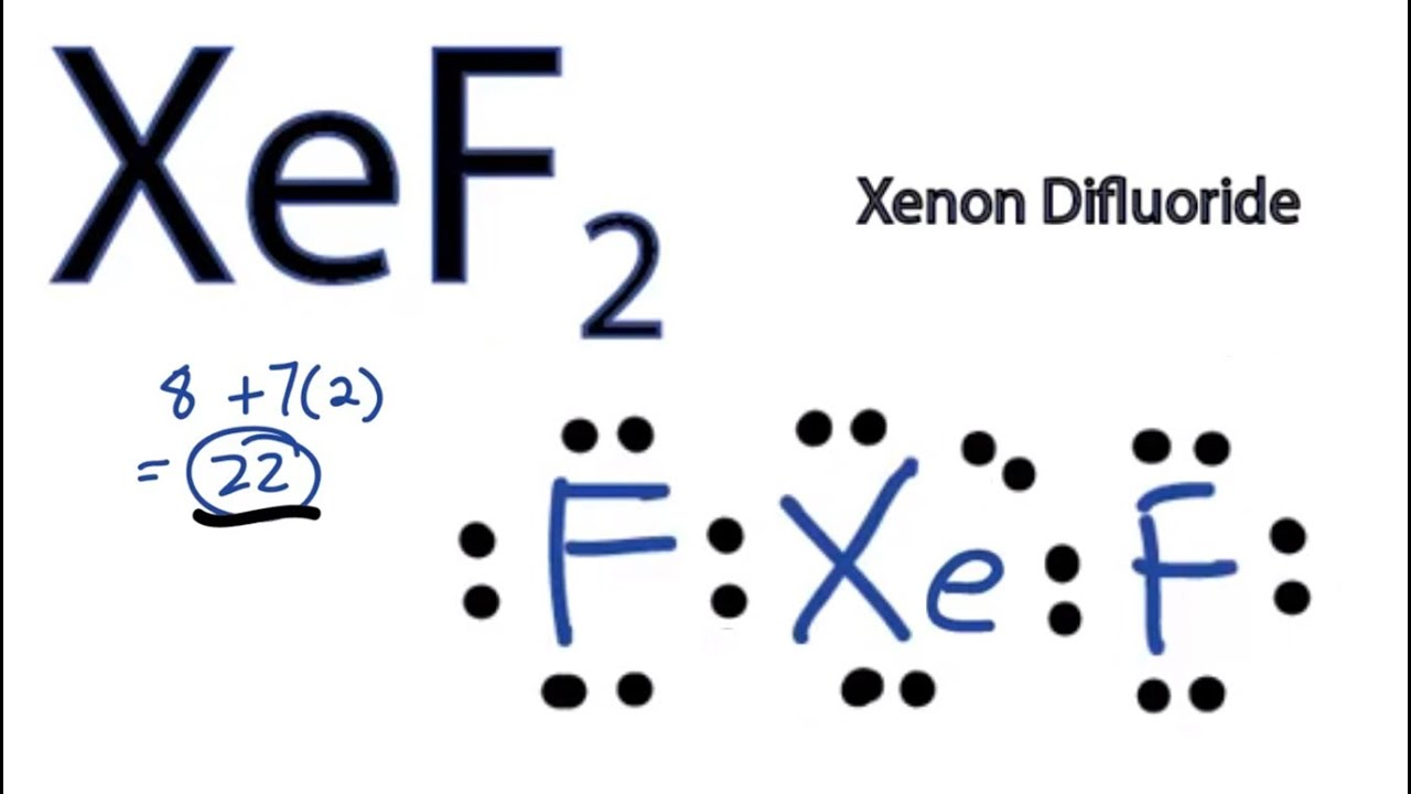 XeF2 Lewis Structure  How to Draw the Lewis Structure for