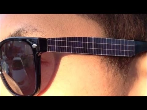 Solar Panel Sunglasses Recharge Your iPhone in The Evening