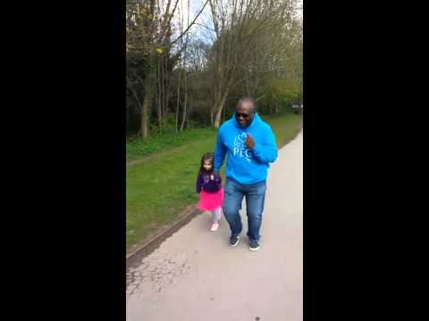 Non Verbal Autistic 4 year old spreading Autism Awareness with her Grandad. Ready, Steady, Go!