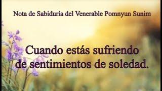 Cuando estás sufriendo de sentimientos de soledad - Nota de Sabiduria del Ven. Pomnyun Sunim