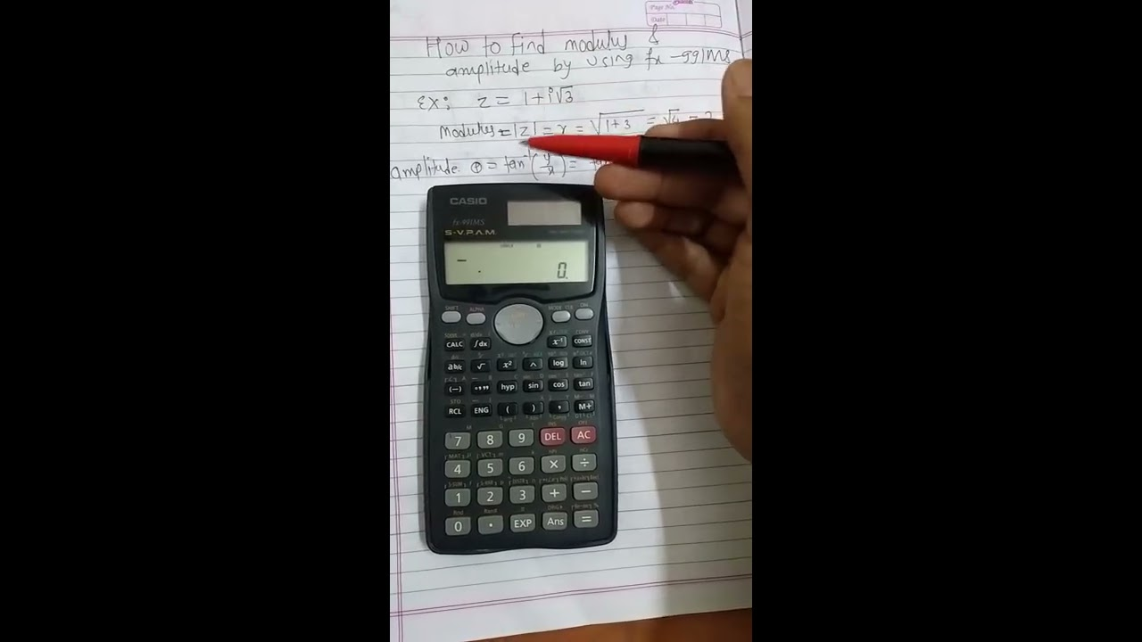 How to convert complex number in polar form by using fx991ms ...