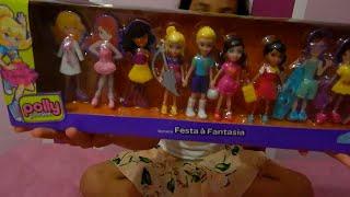 Polly Pocket Conjunto Festa a Fantasia