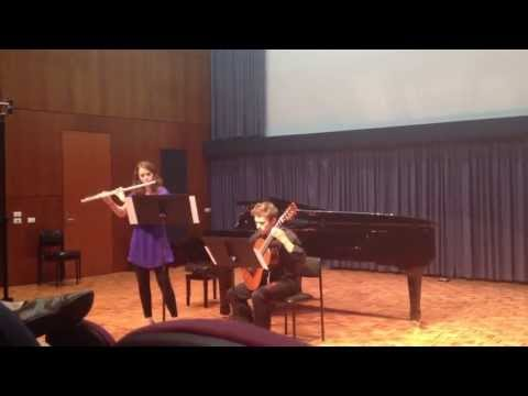 'Hannah and Jackson'  performed Histoire du Tango No. 1 at the Conservatorium of Music, Brisbane