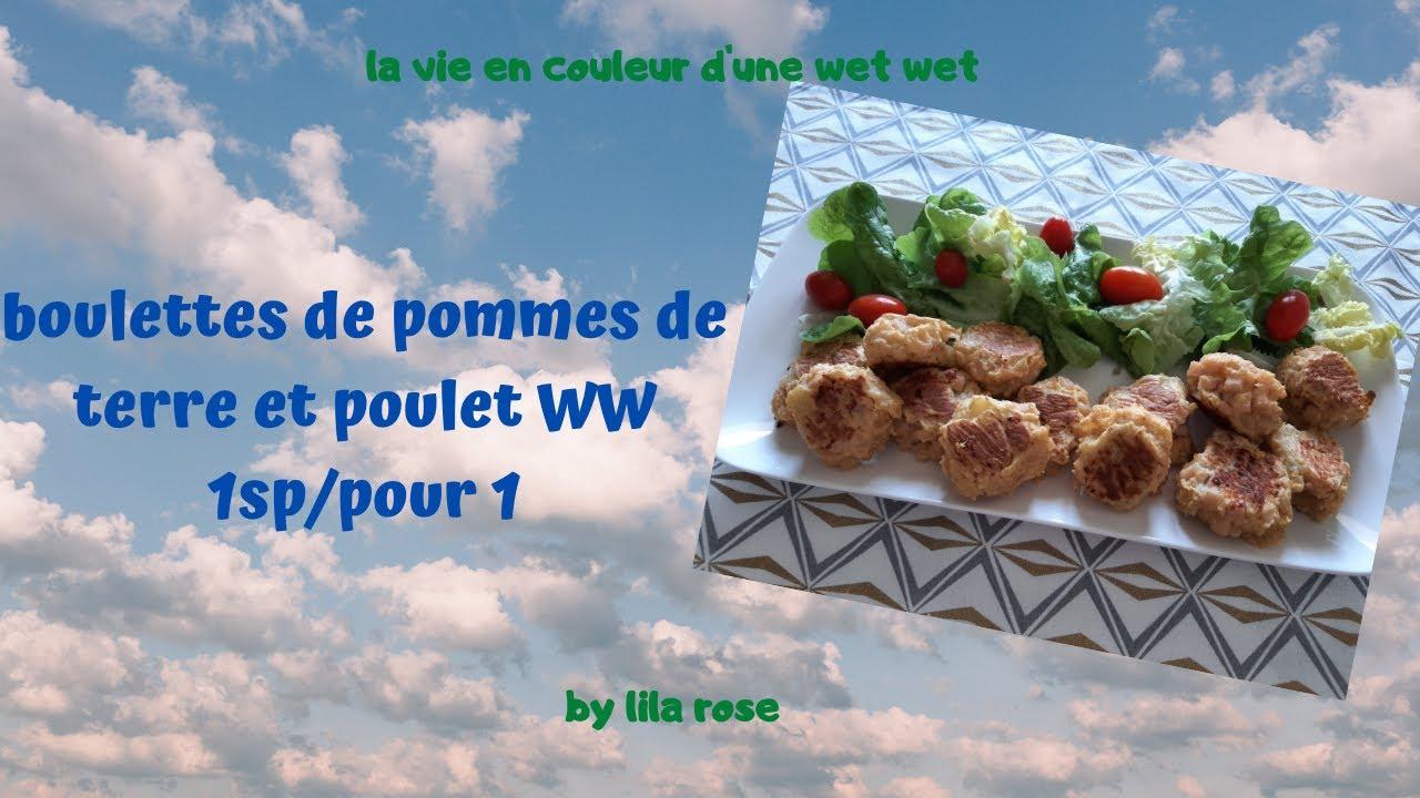 Download boulettes de pommes de terre et poulet WW 1SP