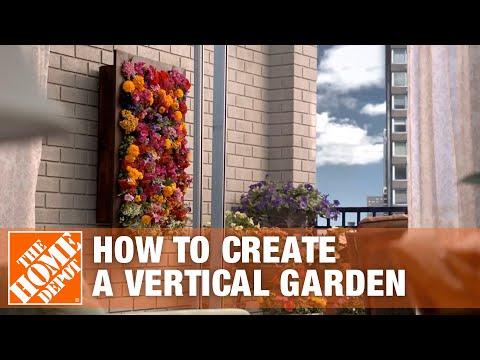 diy-living-wall- -vertical-garden-planters- -the-home-depot
