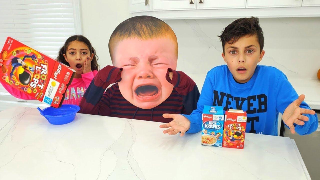 Heidi y Zidane en una divertida historia sobre comida para niños