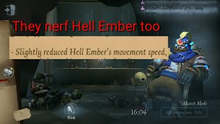 HELL EMBER Speed test After nerf (GLOBAL & CHINA) | IDENTITY V