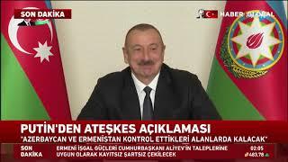 Tarihi An! İlham Aliyev Ve Putin Canlı Yayında Anlaşmayı Böyle İmzaladı!