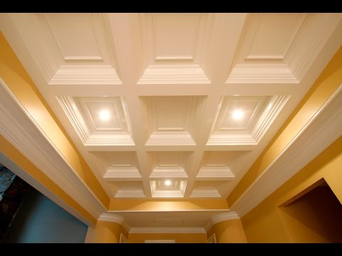 Tilton box beam coffered ceiling system quick easy for Foam coffered ceiling