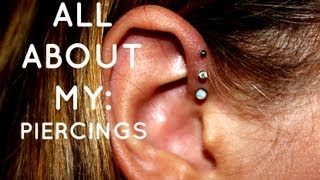 All About My: Triple Foward Helix & Other Piercings :)