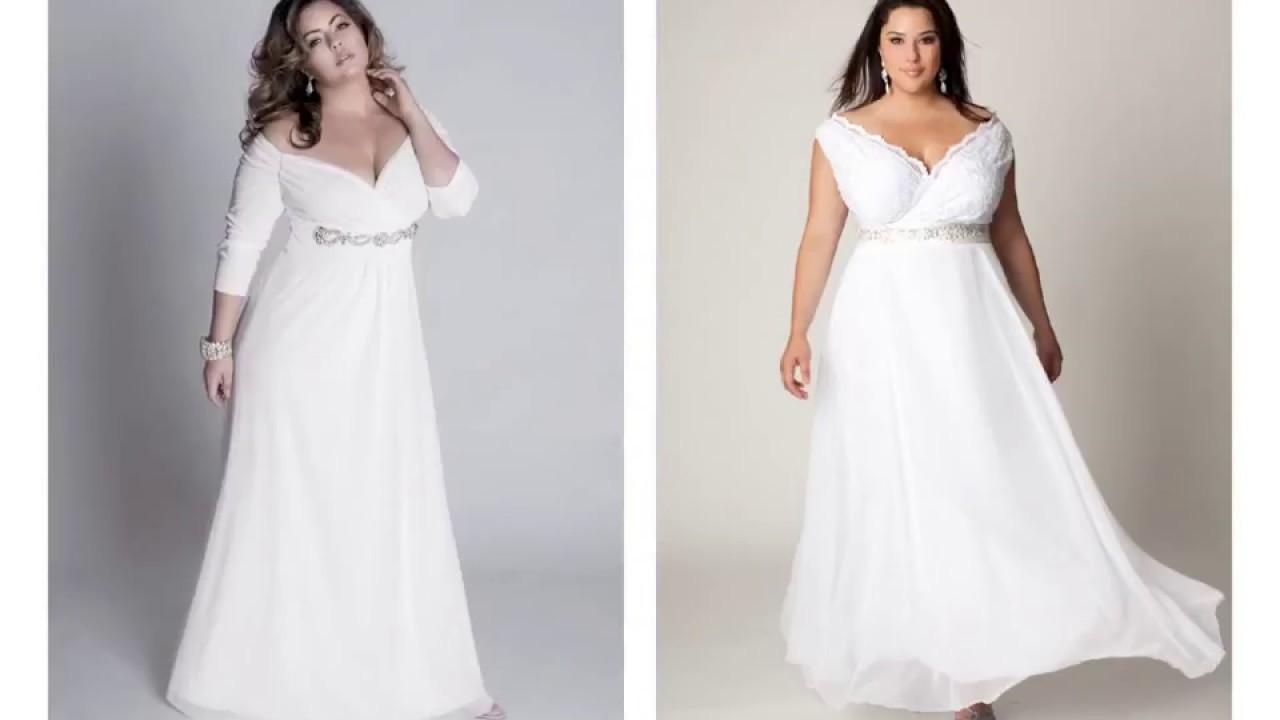 Casual Plus Size Beach Wedding Dresses