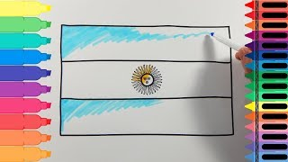 How to Draw Argentina Flag - Drawing the Argentinian Flag - Art Colors for Kids | Tanimated Toys thumbnail