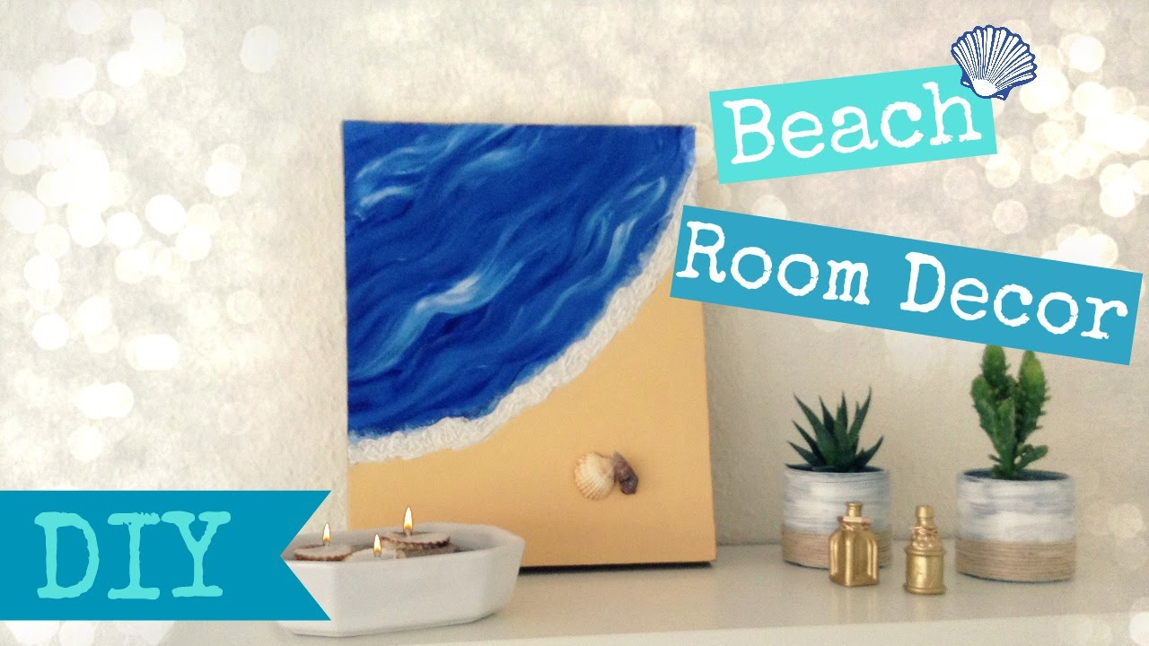 DIY Beach Room Decor Easy Summer Room Decor YouTube